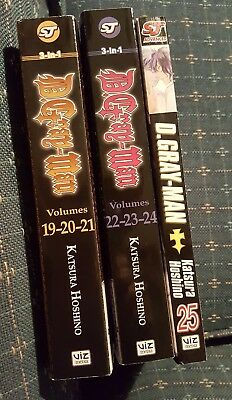 D. Gray-Man Manga Volumes 19-25