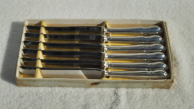 Vintage Retro Boxed Set of Six LUKE Australia Stainless Dinner Knives