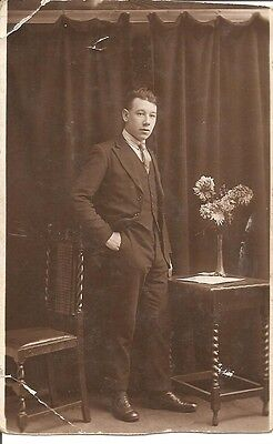 VINTAGE REAL PHOTO POST CARD - Lovely young men