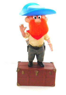 Vintage Yosemite Sam Dakin & Co Piggy Bank 1970 Treasure Chest Pistol Packing