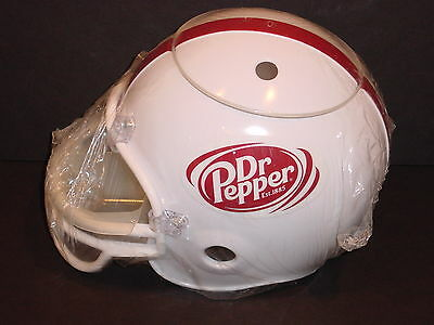 NEW Dr. Pepper Soda FOOTBALL HELMET SNACK SERVER Chips & Dips Promo Bar Man Cave
