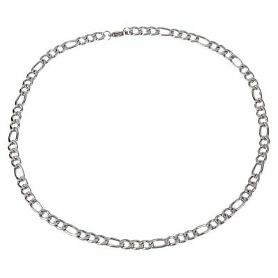 Man Woman stainless steel Chain necklace Silver 5mm wide 50cm long C7I8