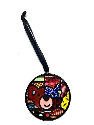 Romero Britto Glass Ornament Bear Stained Glass