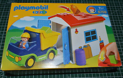 PLAYMOBIL 1 2 3 # 6759 Truck with Garage NEW Unopened