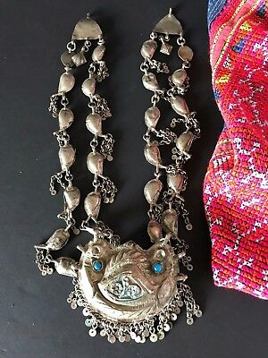 Old Mongolian Silver Tribal Necklace (a) …beautiful collection / accent piece