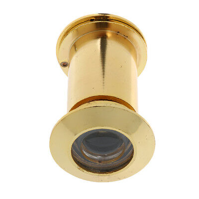 High Quality Adjustable 220 Degree Door Viewer with Privacy Cover_Gold