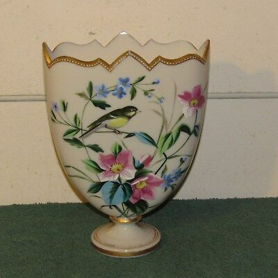 Antique Victorian Harrach Bohemian opaque glass vase?