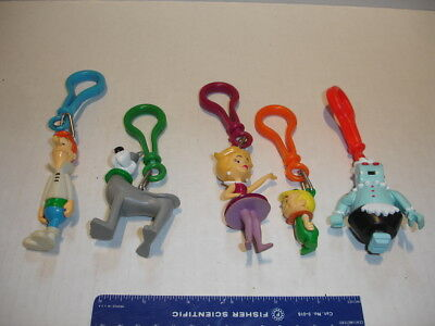 lot of 5 The Jetsons Key Chain Clips Jack in the Box 2001 FAST FOOD PROMO