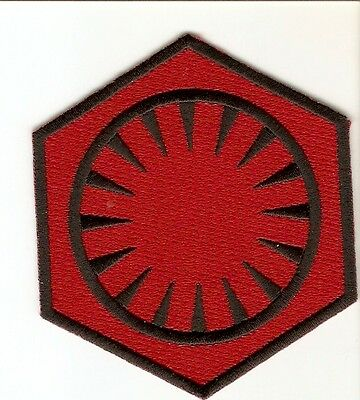 + STAR WARS  Aufnäher Patch FIRST ORDER rot red