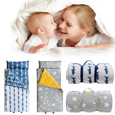 Portable Cotton Baby Nap Mat With Pillow 118*68cm Travel Preschool Nap Mat BK