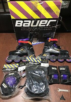Bauer X Train Fitness Brake Precision Inline Roller Hockey Skates Size 6