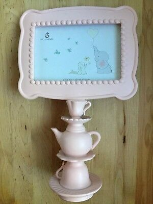 Sicura Kids Pink TEAPOT 4 X 6 Photo Picture Frame Tea Party Baby Girl Nursery