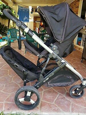 strider plus double pram