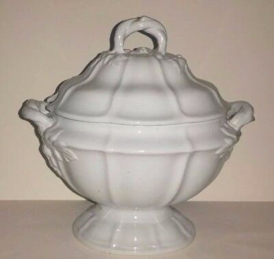 Antique Jacob Furnival English Ironstone Tureen w Grape Design