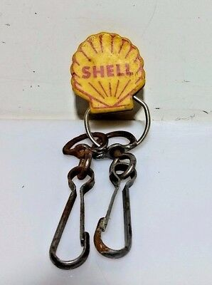 Vintage Shell Gas Keychain Ring