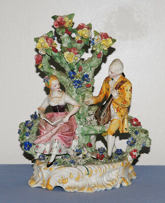 Antique Early Italian/German Porcelaine Figure Group 19th Century
