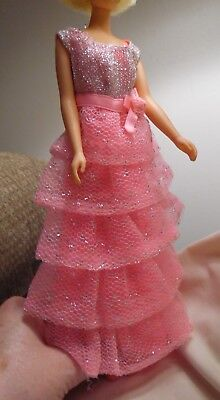 Vintage Barbie Romantic Ruffles Dress And Shoes in GUC