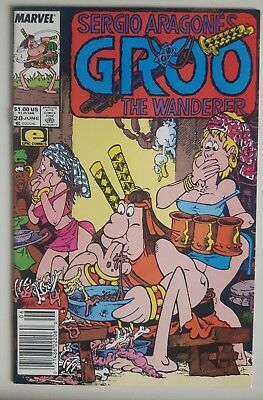 Sergio Aragonés Groo the Wanderer #28 (Jun 1987, Marvel) NM-  News Stand Edition