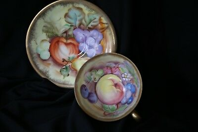Antique Takiro China Tea cup & Saucer Made in Japan Handpainted