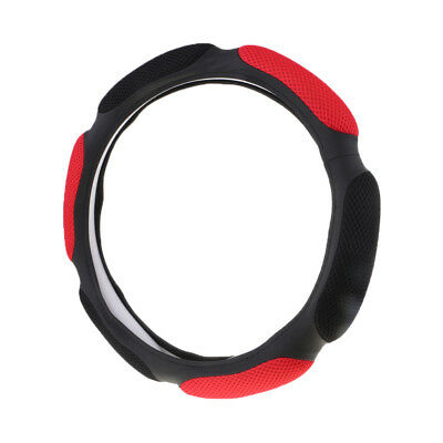 Car Steering Wheel Cover Universal Anti-slip Breathable Mesh Protector Red