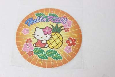 Large Rare Retired Round Sanrio Hello Kitty Sticker/Decal-Hawaii Island-SO CUTE!