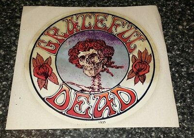 Vintage Original GRATEFUL DEAD Sticker Bertha Skull and Roses 5.5 Inches 1971