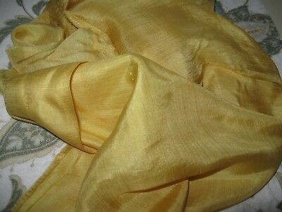 Elegant ANTIQUE Marigold SILK Remnant for FRENCH or GERMAN DOLL Clothes FASHIONS