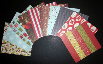 DCWV  *ALL ABOUT CHRISTMAS* x 10 - Scrapbooking/Cardmaking- 15cm x 15cm  (6 x 6)