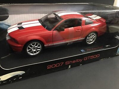 2007 SHELBY GT500 RED Hot Wheels ELITE 1/18 HTF Rare !