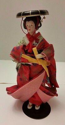 Avon Japanese Geisha Porcelain Doll Vintage 1990 9 Inches