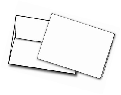 Heavyweight blank white a2 4 14 x 5 12 cards with envelopes 40 5 x 7 heavyweight blank white greeting card sets 40 cards envelopes m4hsunfo