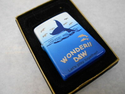 WONDER D&W Whale & Dolphins Zippo  made in 2004