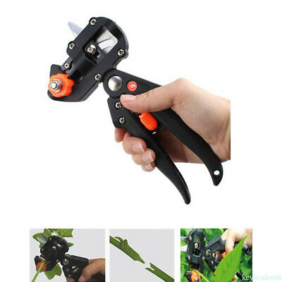 New Black Professional Nursery Garden Grafting Tool Pruner w/2 Blades PD