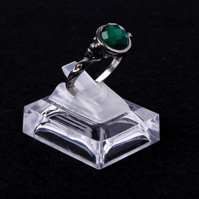 Acrylic Ring Show Display Showcase Jewelry Decoration Stand Holder Transparent