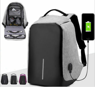 Anti-theft Laptop Notebook Backpack With USB Charging Port School Bag Waterproof
