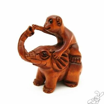 Hand Carved Boxwood Netsuke Japanese Collectible Asian Cultures Figurine Wood