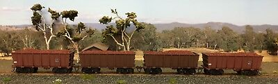 HO Scale BHP Iron Ore Wagons With Loads