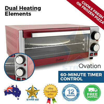 Electric Pizza Maker Oven Cooker With Stone And Grill Benchtop