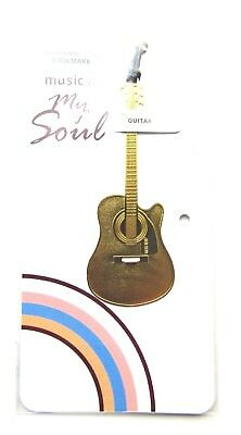 Music is My Soul - Gold Guitar Gift Book Mark
