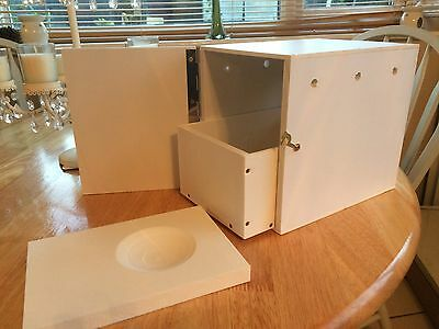 budgie nest box for show budgies with draw and concave all plastic