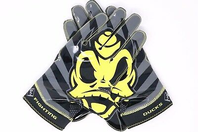 Nike Vapor Knit Oregon Ducks Puddles Football Gloves Black PE TEAM ISSUE SZ XXL