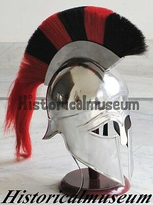 Greek Corinthian Armor Helmet Two Colour Plume -Knight Spartan Helmet Unisc DBH7