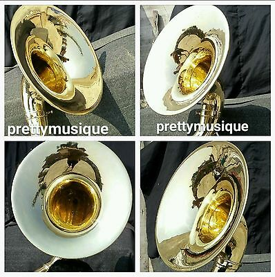 "Sousaphone Of Pure Brass 22"" Bell Size In Brass Gold With Free Bag & Mouthpc"