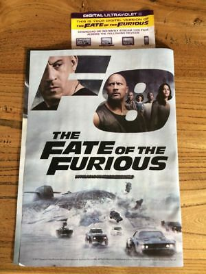 FATE OF THE FURIOUS 8 Digital (UV) Code ONLY NOT A DVD or BLU RAY