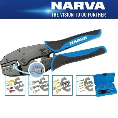 Narva 56513 Professional Ratchet Crimping Kit Great for Anderson & Terminals
