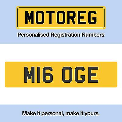 Cherished  Private  Personalised  Number Plate M16 OGE