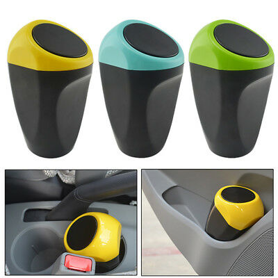 Mini Cute Dustbin Box Trash Rubbish Can Garbage Case Holder Bin Hook For Car SUV
