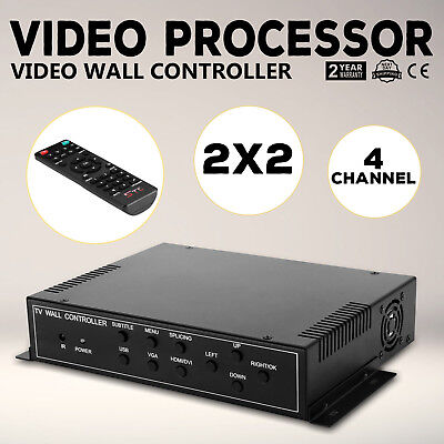 2x2 TV22 4 Channel Video Wall Controller HDMI Outputs AV RMVB multi-format