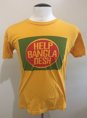"VTG Bill Graham Presents ""HELP BANGLADESH"" T Shirt Size Medium M"