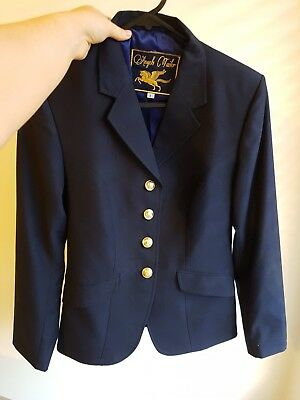 Navy horse riding show jacket ladies size 8/ small